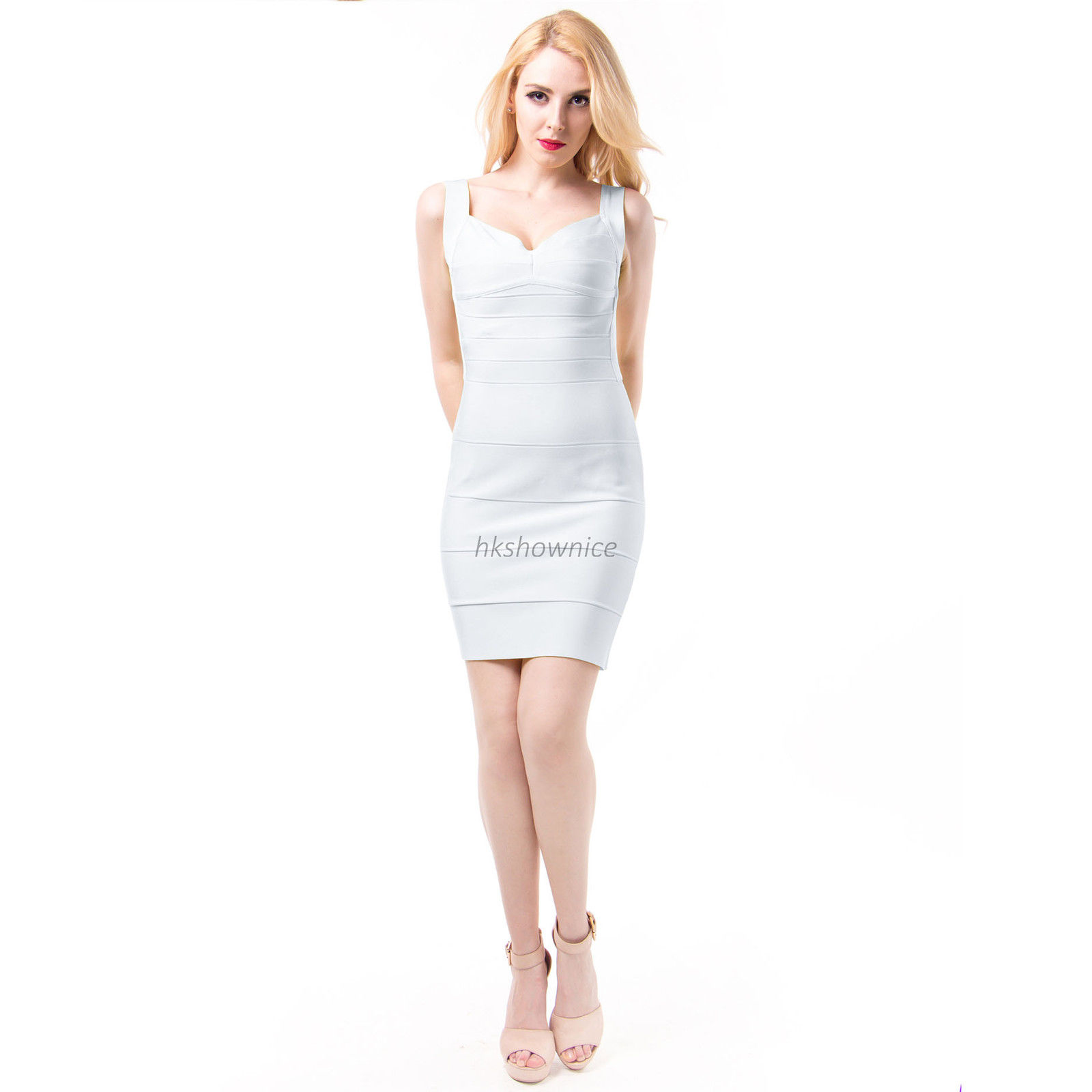 NEW-Arrival-White-Backless-Bandage-bodycon-dress-Womens-Party ...